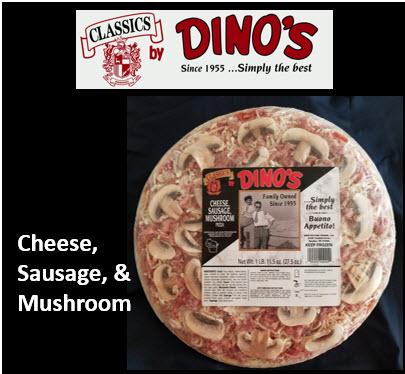 Label Cheese Sausage Mushroom